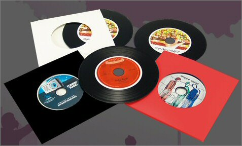 Vinyl style CDs at Band CDs